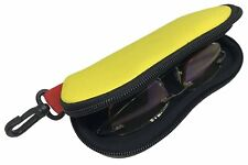 Yellow Floating Neoprene Sunglasses Case with Hook