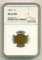 1897 Indian Head Cent MS63 BN NGC