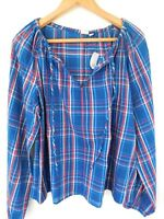 NWT GAP Women's Long Sleeve Raglan Top Shirt Plaid XS S M L Free Shipping NEW