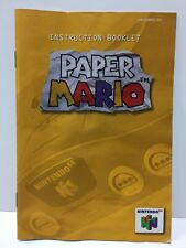 Paper Mario Instruction Booklet Manual Only for Nintendo 64 N64 NTSC English