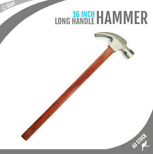 "16"" Steel Claw Hammer Long Wooden Handle Carpentry Framing Drop Forged Carpenter"