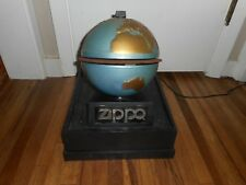 Vintage ZIPPO Lighter Rotating Revolving Advertising Counter Display Case Sign