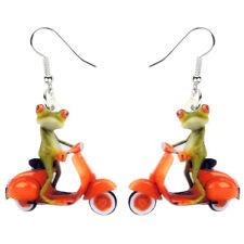 Acrylic Cartoon Electric Car Frog Earrings Dangle Animal Jewelry For Women Gifts