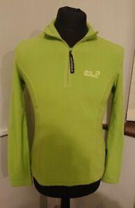 Womens Jack Wolfskin Green Quater Zip Fleece Size 12/14