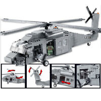 562pcs Military Building Blocks Set Toys Bricks Armored Helicopter Model Gift