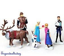6x Frozen Anna Elsa Olaf Sven Doll Loose Figure Figurine Cake Topper Toy