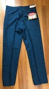 LEVI'S DEADSTOCK BLUE STA PREST PANTS 1960'S 32 29 VINTAGE TAGS MOD STYLE JEANS
