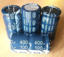 3x radial Elkos Elektrolytkondensator 100 µF uF 400 V 18x33mm 105°C RoHS 2013 JH