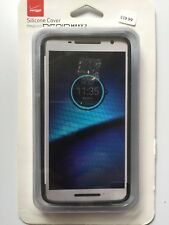 Verizon Matte Silicone Cover for Motorola Droid Maxx 2 - Black NEW