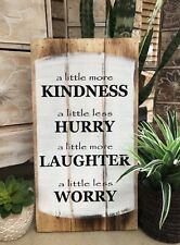 Bali- Balinese - Timber Sign - kindness sign 50 Cm x 25 cm