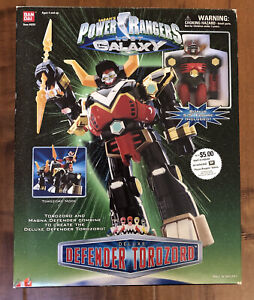 Power Rangers Lost Galaxy Deluxe Defender Torozord Megazord Pre-Owned