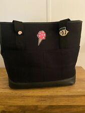 Reddy Black Canvas Small Dog Pet Tote Carrier Bag
