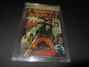 Al-Star Western 2 CBCS 7.5 S.S. signed N. Adams 1st Outlaw & El Diablo (DC 1970)