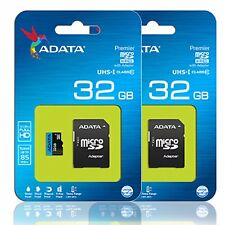 ADATA 32GB MicroSD Micro SDHC Class 10 Flash Memory Card HTC 10 Moto Z Pack of 2