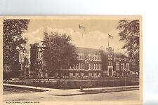 """Vintage Post Card -  LONDON OHIO - """"HIGH SCHOOL"""" Unused ca 1920s"""