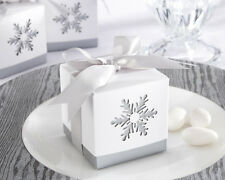 96 Winter Dreams Snowflake Candy Mint Bridal Wedding Favor Boxes
