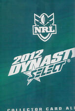 2012 NRL Select Dynasty official album, no pages