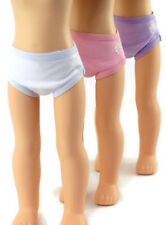 """3 Pack Panties Underwear fits 14.5"""" American Girl Wellie Wishers Doll Clothes"""