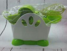 New Kitchen Cooking Utensils Set Dishwasher Safe Soft Cookware Spring Green Set
