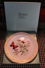 """1985 Lenox #1 Question Mark Butterfly & New England Aster 10.5"""" Dinner Plate"""