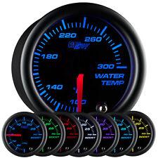52mm GlowShift Black 7 Water Temp Temperature °F Gauge w. 7 Color Display