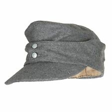 WWII GERMAN ARMY EM PANZER M43 M1943 FIELD WOOL CAP GREY COLOR L