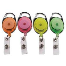 """Ace Office 91119 Carabiner-style Retractable Id Card Reel, 30"""" Extension,"""