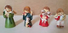 4 Vintage Plastic Christmas Angel Figurine Ornaments Hong Kong