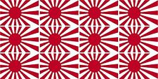"12 - Rising Sun Flag Decal 2""x1.2"" Japanese Japan Hard Hat Helmet Sticker"
