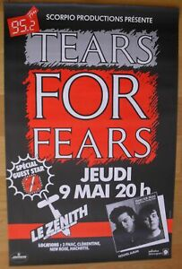 TEARS FOR FEARS original french concert poster '85