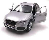 Audi Modellino Auto con Richiesta Caratteristiche Q3 Kompakt SUV Argento Scala