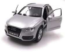 Audi Model Car with Desired License Plate Q3 Compact SUV Silver Scale 1:3 4-39