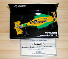 Minichamps 1:43 Benetton Ford B193B M.Schumacher GP Hockenheim 25. Juli 1993