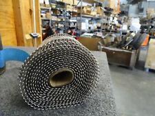 Wire Conveyor Belt, Stainless Steel, 8in x 158in, Flat Flex, Food Grade