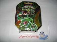 Tin Rayquaza EX Best of 2015 Pokemon TCG w/ 4 Booster Packs Trading Card Game