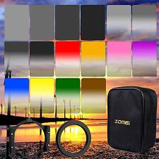 ZOMEI 4x6in ND2+4+8+16 Square Filters kit 77 Ring+Holder 16 Case for Cokin Z