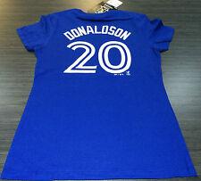 Toronto Blue Jays Josh Donaldson XL Name Number Blue T Shirt Ladies Women MLB