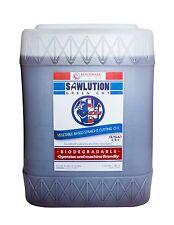 BENCHMARK FLUIDS SAWLUTION GREENCUT RENEWABLE CUTTING FLUID,  5 GALLON TOTE.