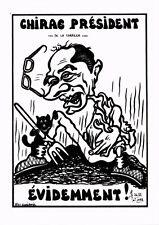 CPA Lardie caricature - Chirac Président de la Correze évidemment! (285380)