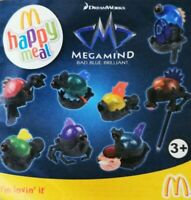 McDonalds Happy Meal Toy 2010 UK Megamind Bad Blue Brilliant Toys - Various