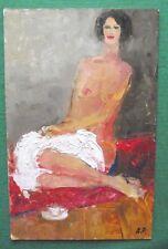 ORIGINALE IMPRESSIONISTA pittura ad olio nudo COFFEE disrobed da Alexei petrenko: