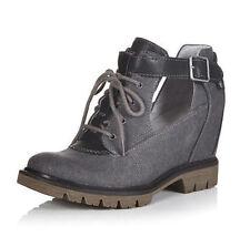 Ladies Caterpillar Black Textile / Leather Wedge Shoe Helena Size UK 8