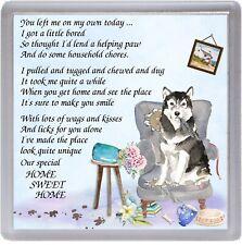 "Alaskan Malamute Dog Fridge Magnet /""My Guardian Angel is a Malamute/"" Starprint"