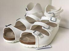 Birkenstock Athen 032231 Size 39 L8-8.5 R White Birko-Flor Sandals