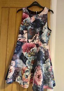 Primark Limited Edition Beautiful Floral Baker Summer Skater Dress Size 12