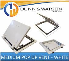 White Pop Up Vent (Medium) - Trailer Horse Float Livestock Truck Caravan RV