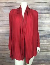 Exclusively Misook Sweater Size Large L Women's Cardigan Red Open Front Acrylic