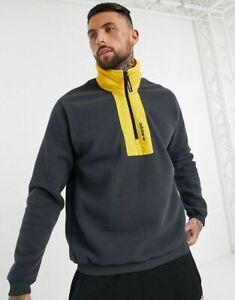 Adidas Originals Adventure Fleece Crew Men's Solid Grey Sportswear Activewear