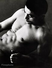 1960s Vintage Asian MALE NUDE Japan Physique Photo Muscle Body TAMOTSU YATO 16x2