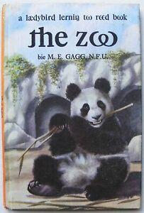Rare Vintage Ladybird Book –the zoo–ITA laedybird lernin too reed – Good
